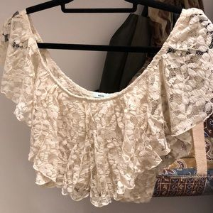 Tops - Urban outfitters lace crop top